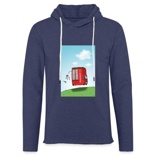 Feuerwehrwagen - Leichtes Kapuzensweatshirt Unisex