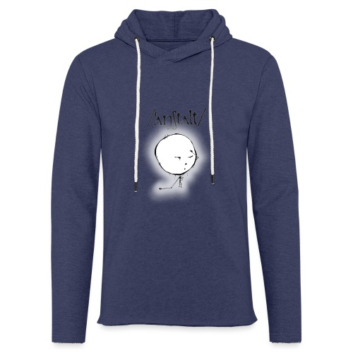 kreisling mit logo (schwarz) - Leichtes Kapuzensweatshirt Unisex
