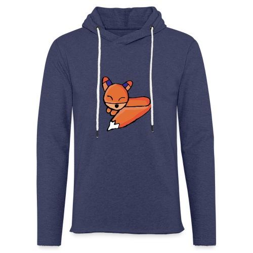 Edo le renard - Sweat-shirt à capuche léger unisexe