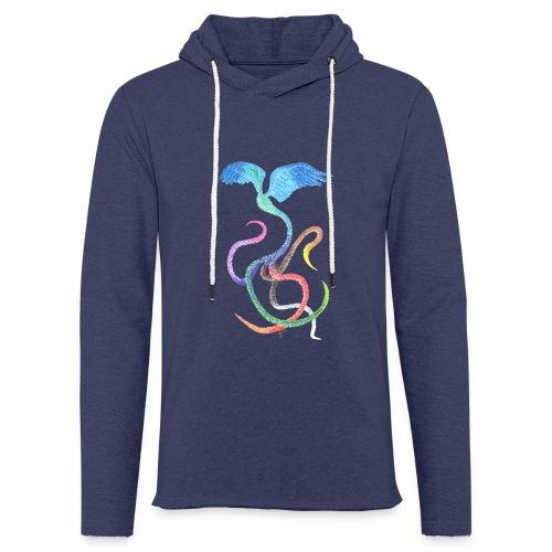 Gracieux - Oiseau arc-en-ciel à l'encre - Sweat-shirt à capuche léger unisexe