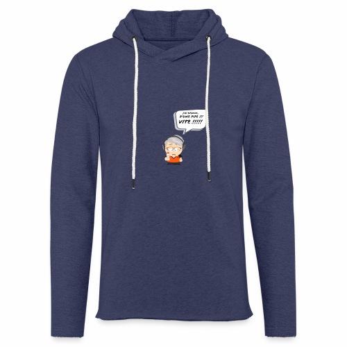 Le Vieux Bourré - Sweat-shirt à capuche léger unisexe