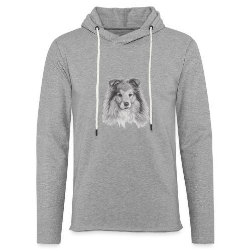 shetland sheepdog sheltie - Let sweatshirt med hætte, unisex