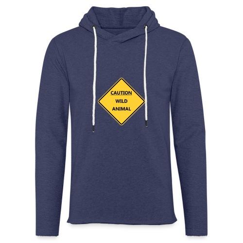 Caution Wild Animal - Sweat-shirt à capuche léger unisexe
