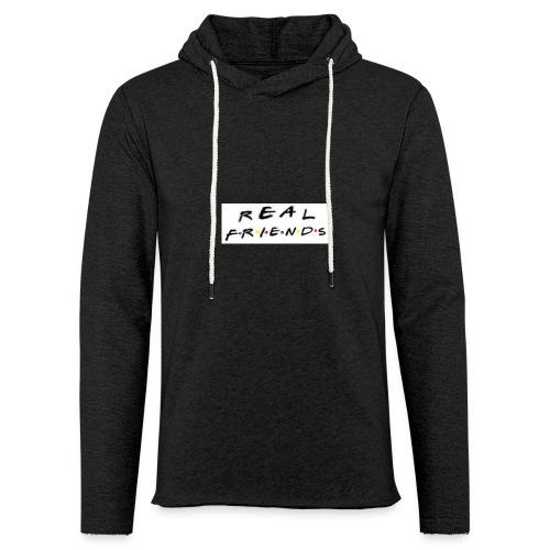 Real freinds - Let sweatshirt med hætte, unisex