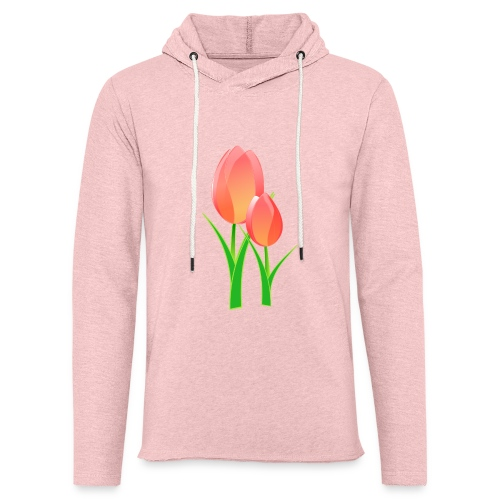 Belle fleur - Sweat-shirt à capuche léger unisexe