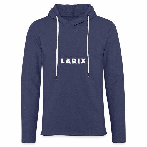 Larix - Glitch v.01 - Felpa con cappuccio leggera unisex