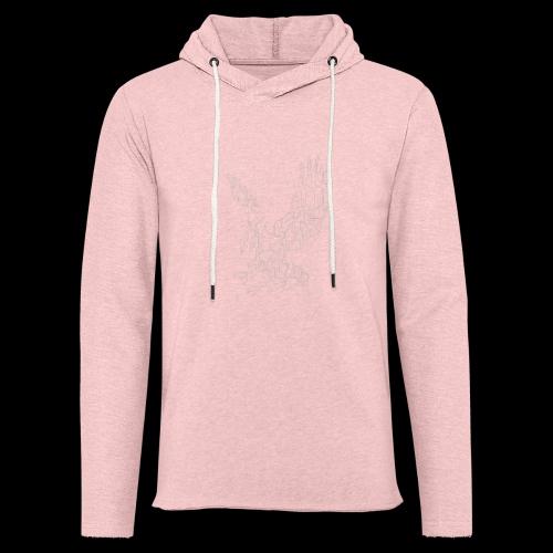 Circuit eagle White - Let sweatshirt med hætte, unisex