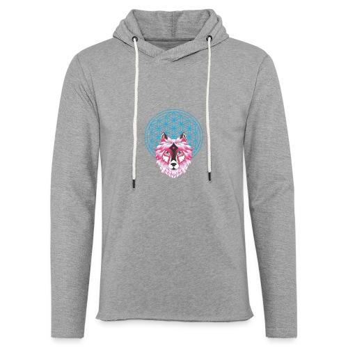fleur de vie loup n°1 - Sweat-shirt à capuche léger unisexe