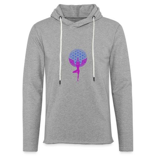 fleur de vie yoga n°1 - Sweat-shirt à capuche léger unisexe