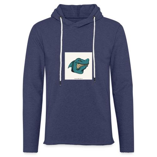 requin mascotte weelax - Sweat-shirt à capuche léger unisexe