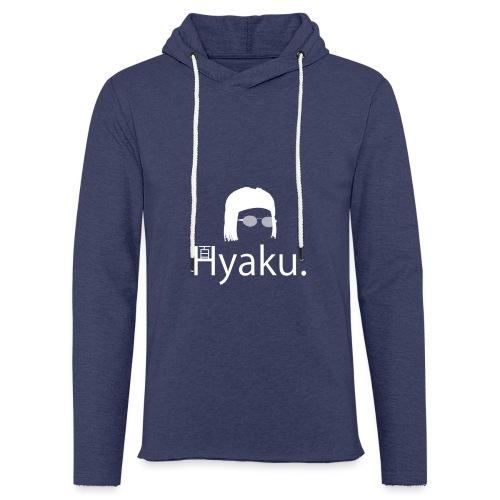 Hyaku White - Lett unisex hette-sweatshirt