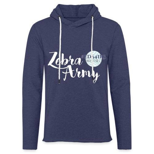 Zebra Army (white) - Light Unisex Sweatshirt Hoodie