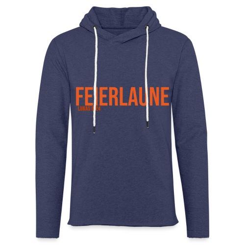FEIERLAUNE - Print in orange - Leichtes Kapuzensweatshirt Unisex