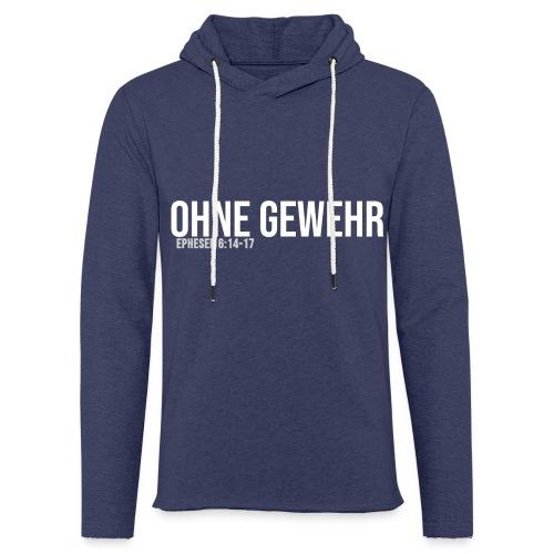 OHNE GEWEHR - Print in weiß - Leichtes Kapuzensweatshirt Unisex