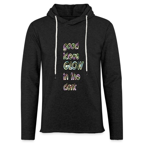 good ideas GLOW in the dark - Sudadera ligera unisex con capucha