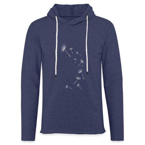Pusteblume Design 1 - Leichtes Kapuzensweatshirt Unisex
