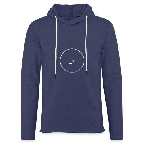 White and white-blue logo - Light Unisex Sweatshirt Hoodie