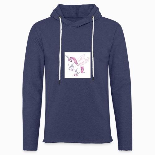Petite licorne rose super mignonne!! - Sweat-shirt à capuche léger unisexe