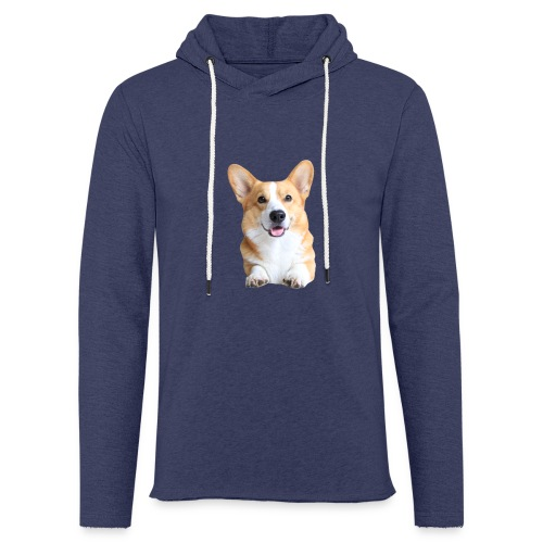 Topi the Corgi - Frontview - Light Unisex Sweatshirt Hoodie
