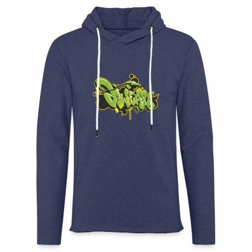 Mesk 2Wear graffiti style Green ver02 - Let sweatshirt med hætte, unisex