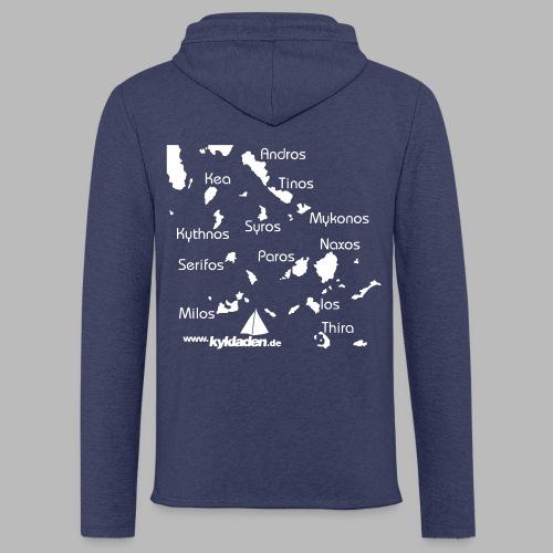 Kykladen Griechenland Crewshirt - Leichtes Kapuzensweatshirt Unisex