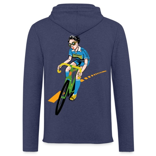 The Bicycle Girl - Leichtes Kapuzensweatshirt Unisex
