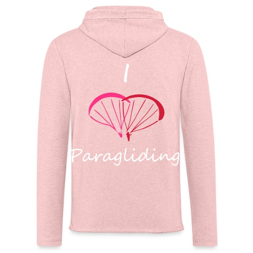 I Love Paragliding V2 - Light Unisex Sweatshirt Hoodie