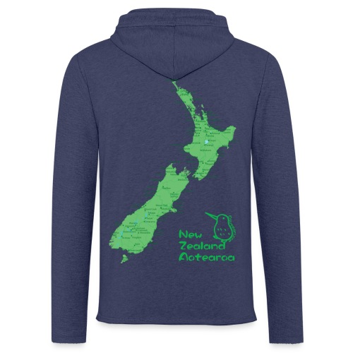 New Zealand's Map - Light Unisex Sweatshirt Hoodie
