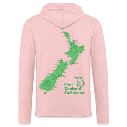 New Zealand's Map - Light Unisex Sweatshirt Hoodie