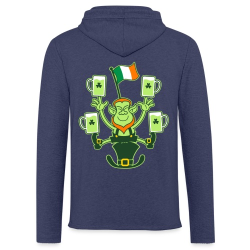 Leprechaun Juggling Beers and Irish Flag - Light Unisex Sweatshirt Hoodie