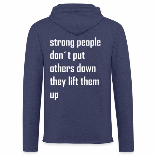 strong people - Lichte hoodie unisex