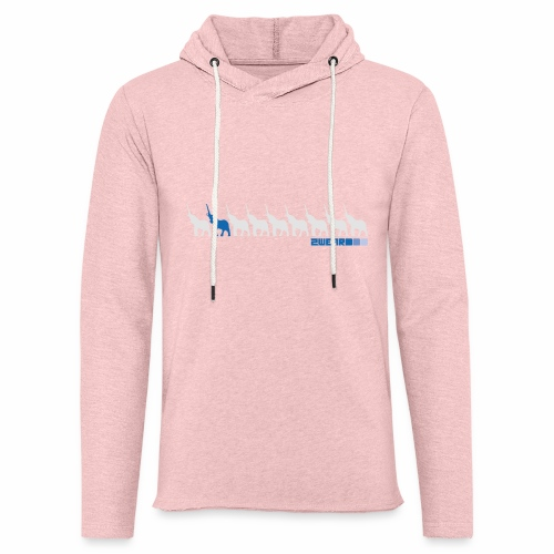 2wear Elepant street flow - Let sweatshirt med hætte, unisex