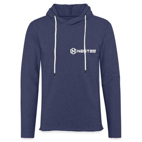 NASTEE logo Weiss - Leichtes Kapuzensweatshirt Unisex