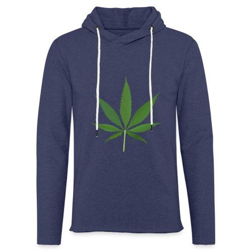 2000px-Cannabis_leaf_2 - Let sweatshirt med hætte, unisex
