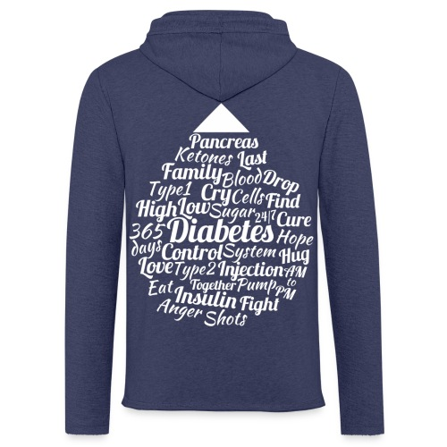 CURE DIABETES - Light Unisex Sweatshirt Hoodie