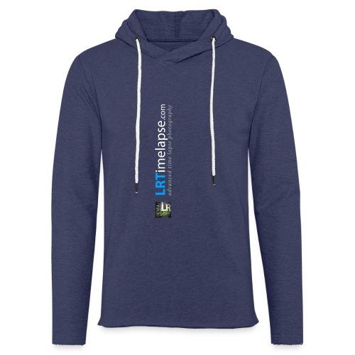 LRTImelapse Shirt Logo Vorne Hoch breiter3 png - Leichtes Kapuzensweatshirt Unisex