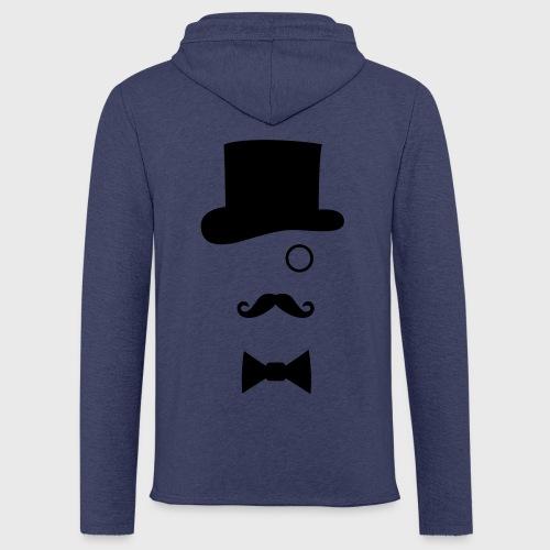 Chapeau Monocle Moustaches Nœud papillon - Sweat-shirt à capuche léger unisexe