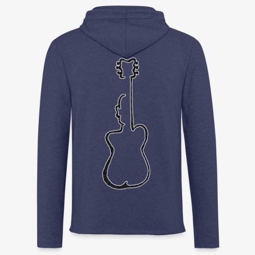 Guitar man - Lekka bluza z kapturem