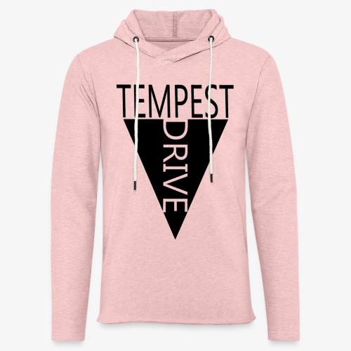 Komprimeret logo - Let sweatshirt med hætte, unisex