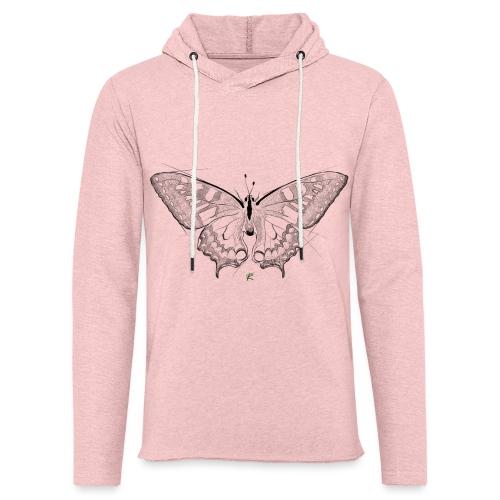 Butterfly - Felpa con cappuccio leggera unisex