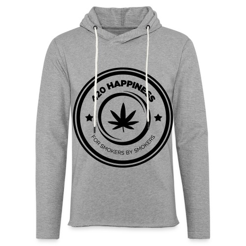 420_Happiness_logo - Let sweatshirt med hætte, unisex