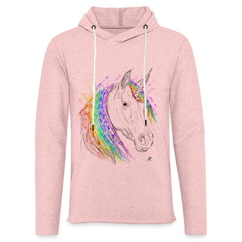 Unicorno - Felpa con cappuccio leggera unisex