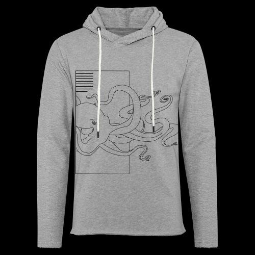 Tintenfisch-Logo Schwarz - Leichtes Kapuzensweatshirt Unisex