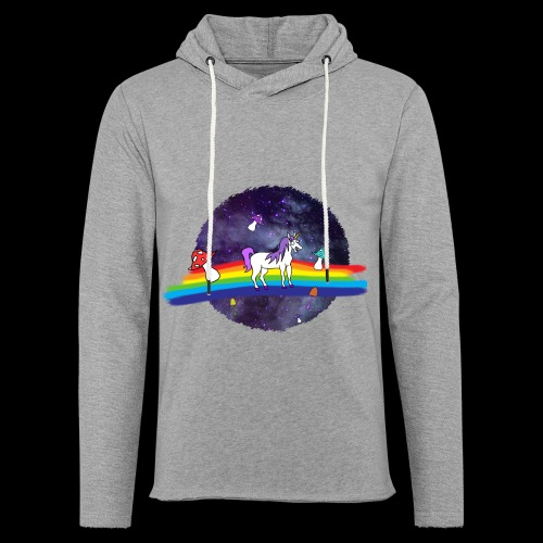 Mushroom Unicorn in Space Hoodie - Light Unisex Sweatshirt Hoodie