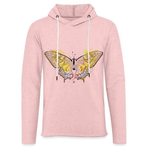 Butterfly color - Felpa con cappuccio leggera unisex