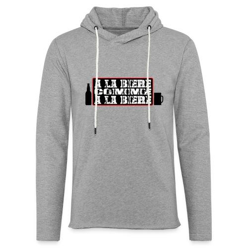 biere - Sweat-shirt à capuche léger unisexe