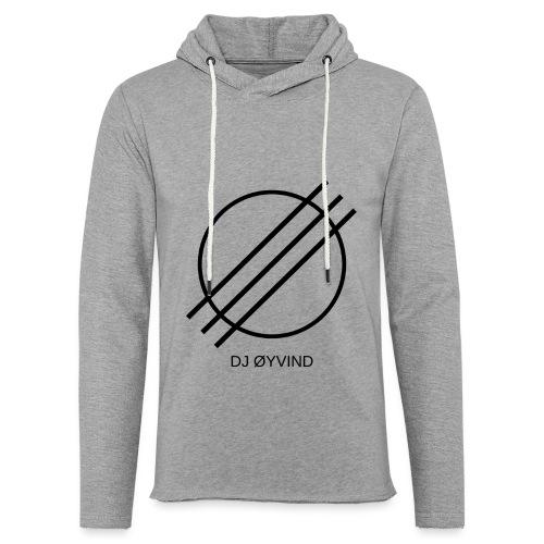 DJ Øyvind Logo (Offisiell) - Lett unisex hette-sweatshirt