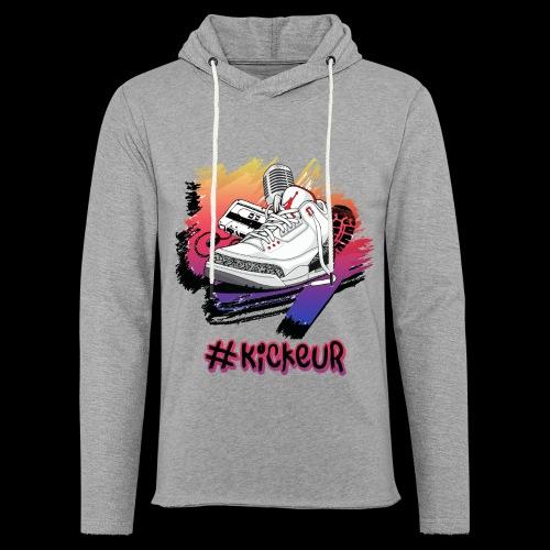 #Kickeur Noir - Sweat-shirt à capuche léger unisexe
