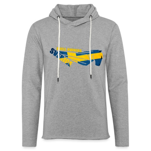 Buell Owners Sverige - Lätt luvtröja unisex