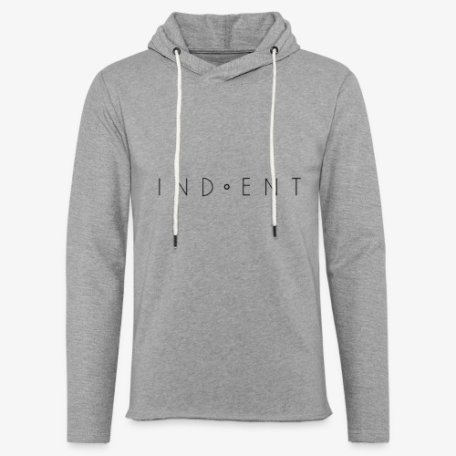 Indent 'o' Hoodie - Light Unisex Sweatshirt Hoodie